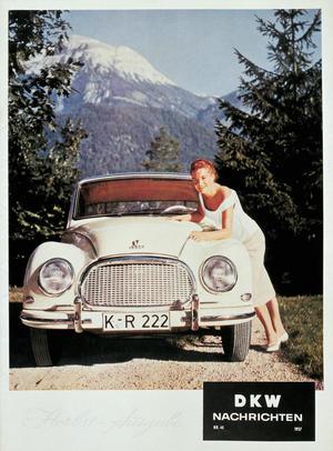 DKW 3=6 Typ F93; three-cylinder two-stroke engine; 900 cc, 38 bhp.