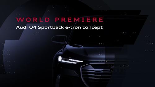 World premiere Audi Q4 Sportback e-tron-concept