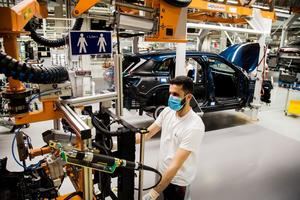 The Audi plant in Brussels is ready to operate under coronavirus restrictions