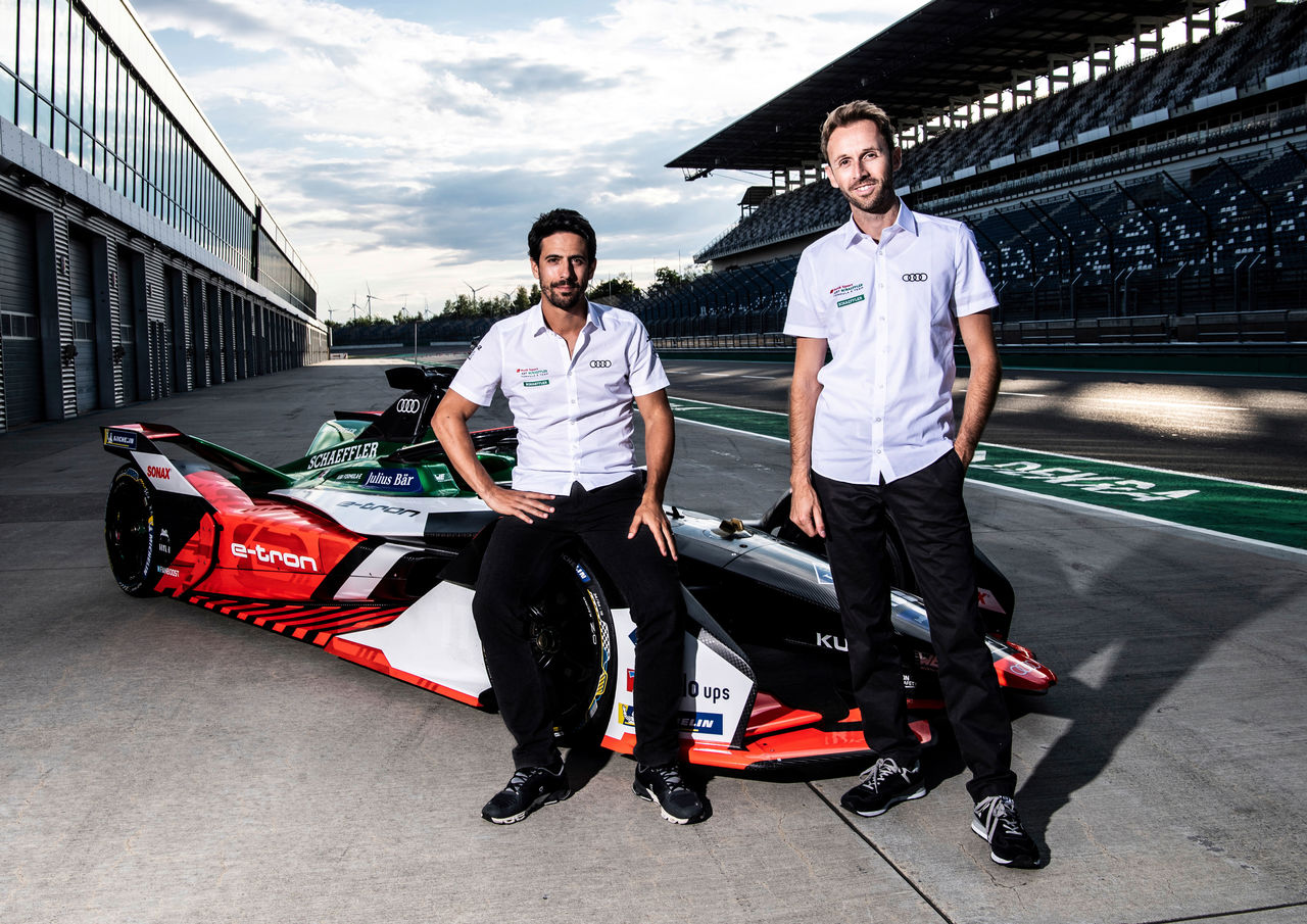 Lucas di Grassi and René Rast compete for Audi in the FIA Formula E World Championship