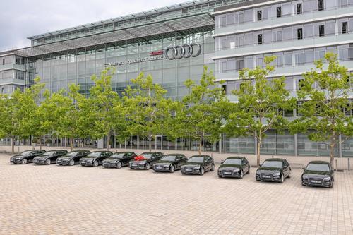 Bereit zur Übergabe am Audi Forum Ingolstadt