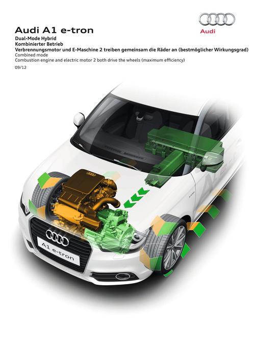 Audi Dual-Mode Hybrid Combined mode e