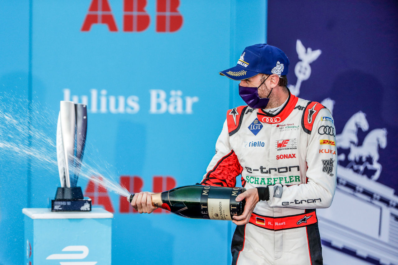 First podium for René Rast in Formula E