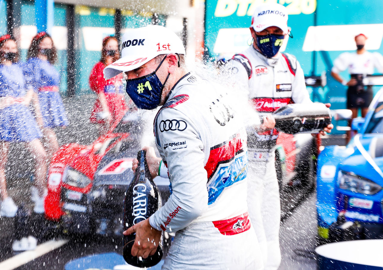 Huge cheers in Assen: Audi driver Frijns celebrates first DTM victory in front of home crowd