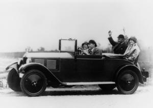 DKW P15 roadster, 600 cc, two-stroke inline engine, rear-wheel drive, 15 hp, 1928; the first DKW car.