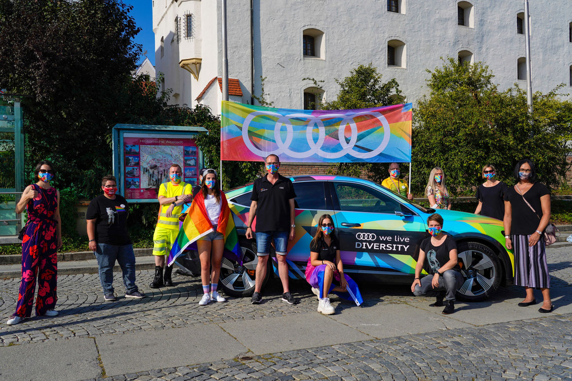 Audi shows its commitment to diversity at Christopher Street Day in Ingolstadt