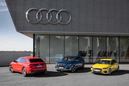 Audi SQ8 TFSI, Audi SQ7 TFSI, Audi S3 Sportback