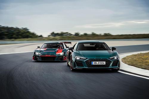 Eine Hommage an den erfolgreichen R8 LMS: der Audi R8 green hell