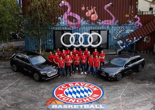 Neue Audi-Modelle für Basketballer des FC Bayern