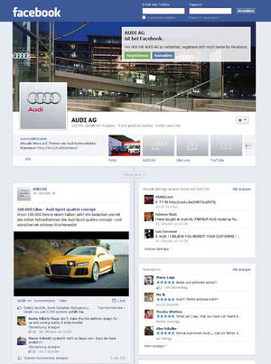 Audi Kommunikation punktet im Social Web