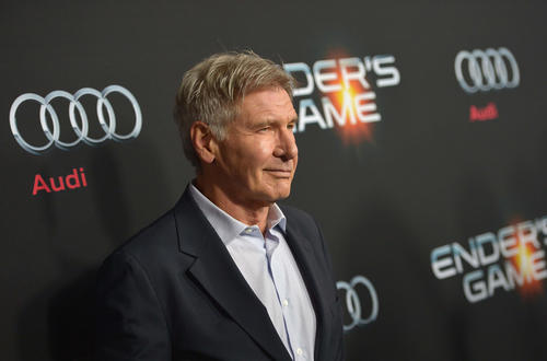 Harrison Ford in a sci-fi Audi