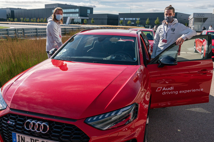 FC Ingolstadt 04 at the Audi driving experience