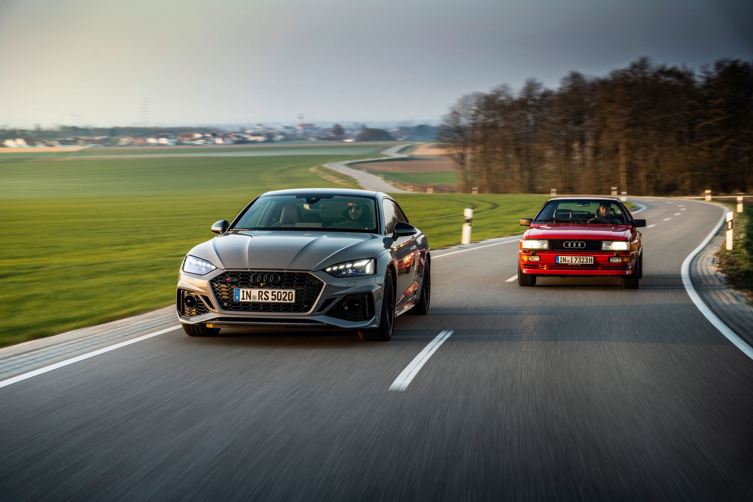 Audi RS 5 meets historic Audi quattro