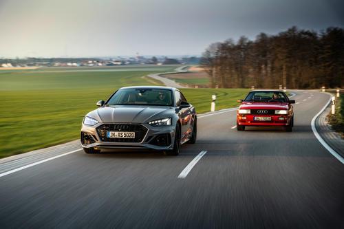 Audi RS 5 meets historic Audi quattro
