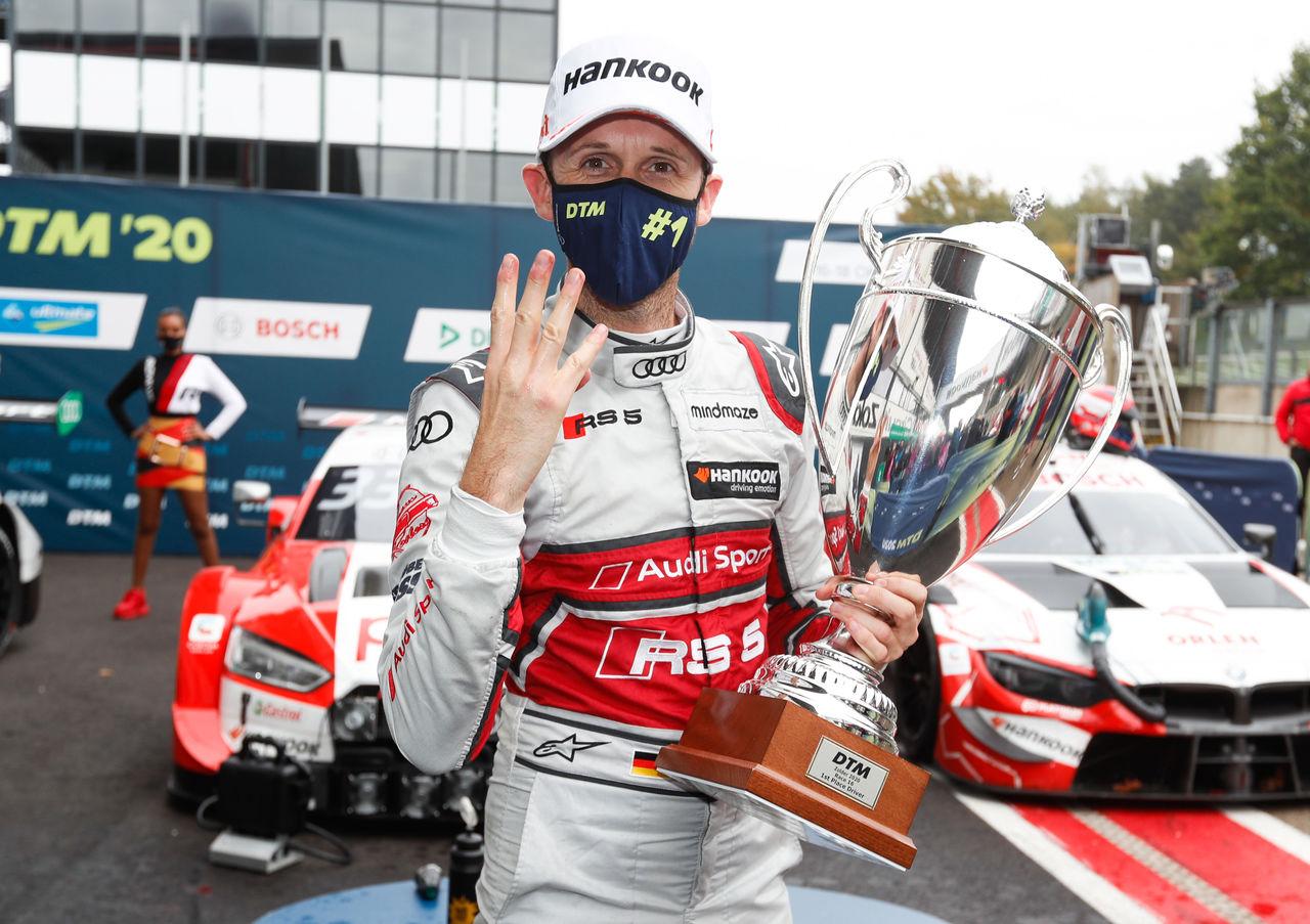 """René """"quattro"""" Rast wins all four DTM races at Zolder"""
