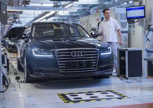 Die Audi A8-Fertigung am Audi-Standort Neckarsulm