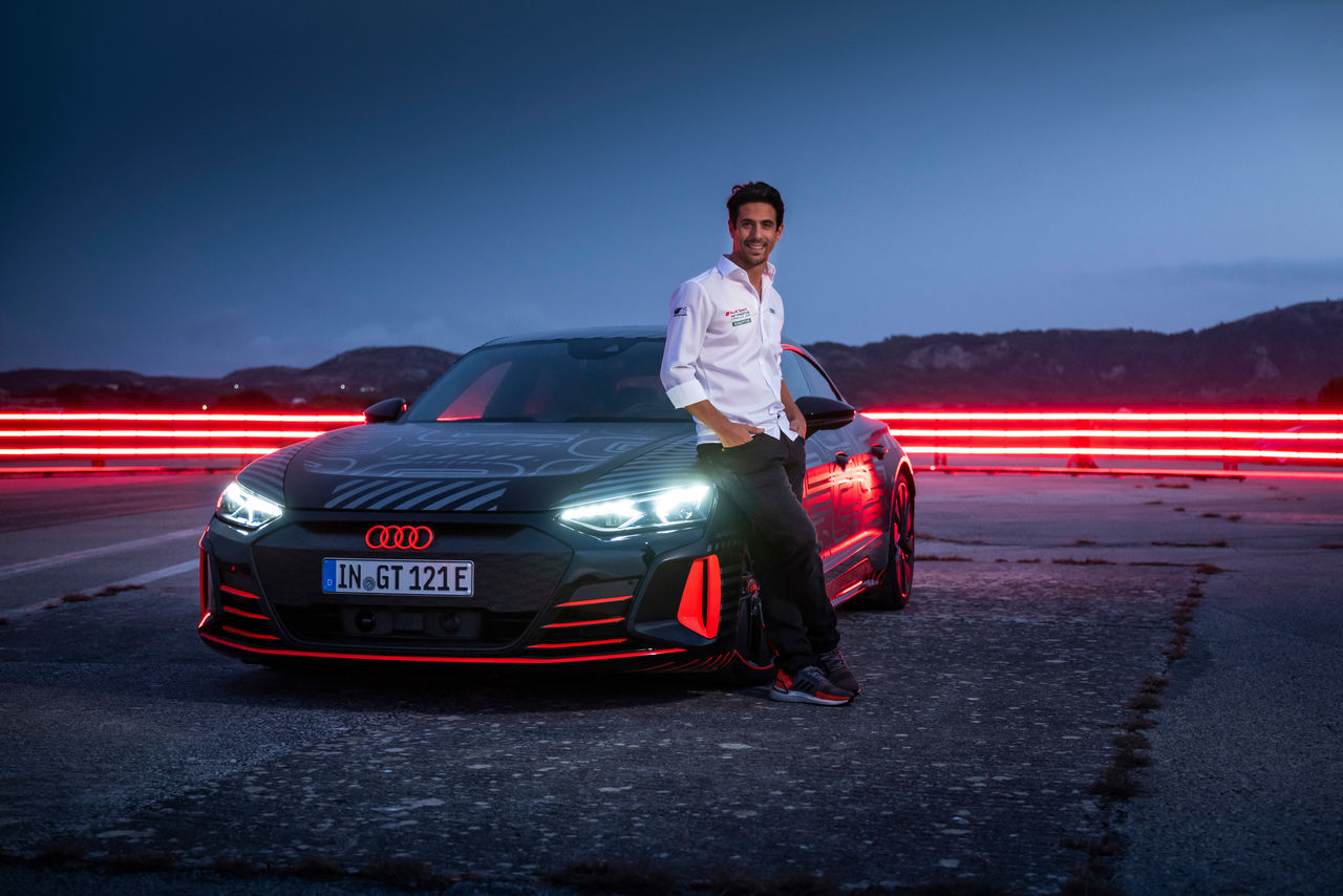 The moment of truth: ||Formula E driver Lucas di Grassi tests production-based RS e-tron GT