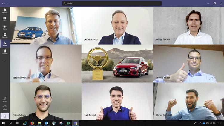 """Erfolg für Audi: Der A3 Sportback gewinnt das ?Goldene Lenkrad"""" in der Kompaktklasse"""