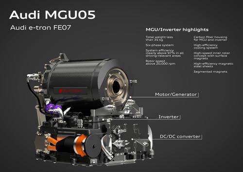 The Audi MGU05 in the e-tron FE07