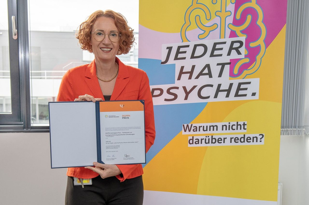 """Audi receives anti-stigma prize for """"We all have mental health. Why not talk about it?"""""""