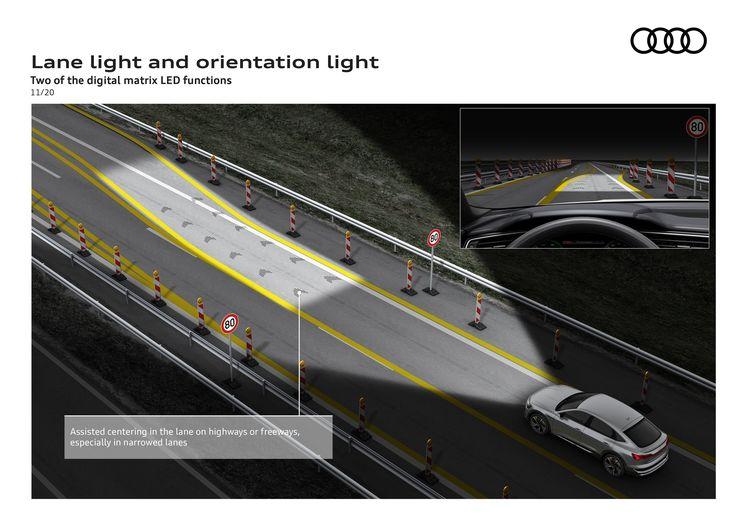 Lane light and orientation light