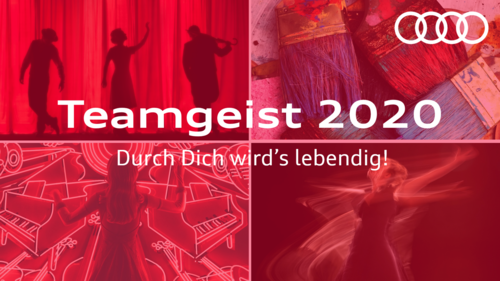 """The motto of the """"Team Spirit 2020"""" campaign: Durch Dich wird's lebendig! (You bring culture to life!)"""
