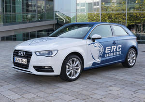 The Audi A sporting the colours of ERC Ingolstadt