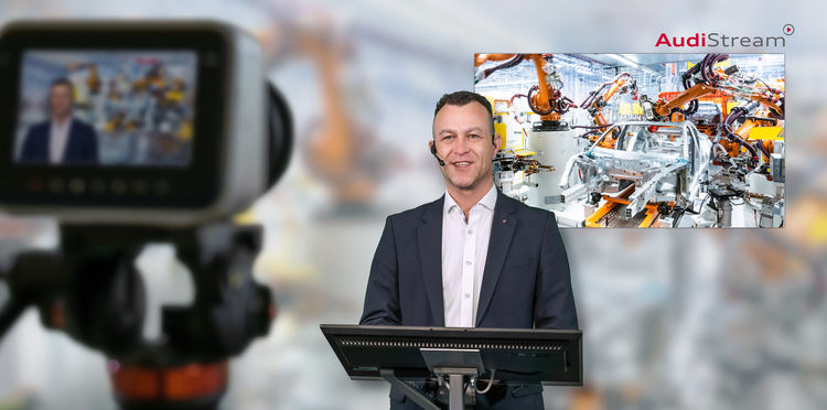 Discover the Neckarsulm production site virtually and interactively with AudiStream