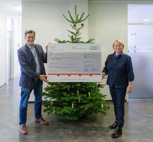 Audi-Belegschaft spendet 280.000 Euro an soziale Einrichtungen
