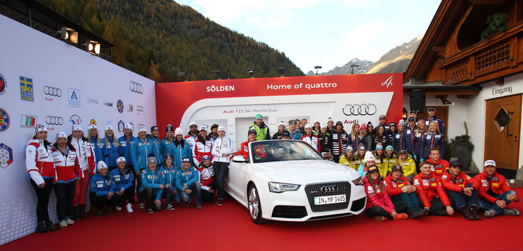 Athletes from ten Audi partner nations at Soelden