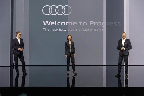 Weltpremiere Audi e-tron GT: Celebration of Progress.
