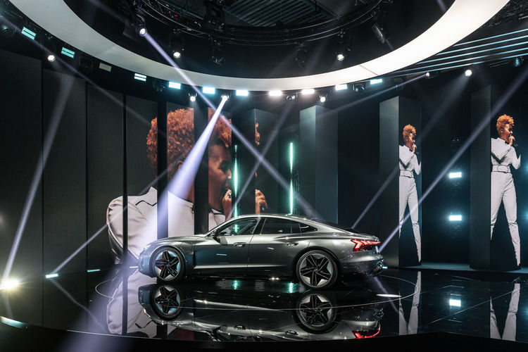 World premiere of the Audi etron GT: Celebration of Progress.