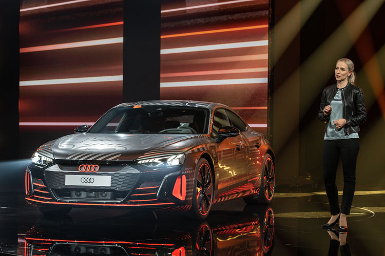World premiere of the Audi etron GT: Sprint of Progress.