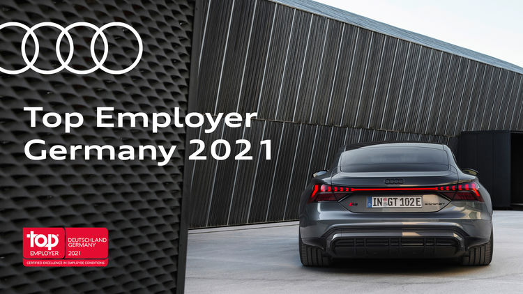 AUDI AG certified as Top Employer of 2021