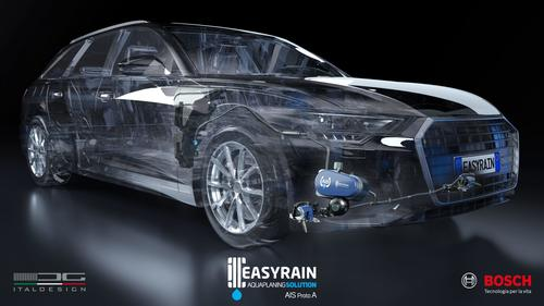 AIS: Easyrain, Bosch and Italdesign to test the anti-aquaplanning system on a series production car