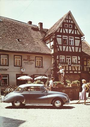 DKW 3=6 Sonderklasse Typ F91 Luxus Coupé; three-cylinder two-stroke engine; 900 cc, 34 bhp
