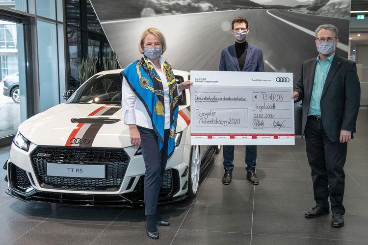 Audi-Belegschaft spendet erneut über 70.000 Euro für die Region