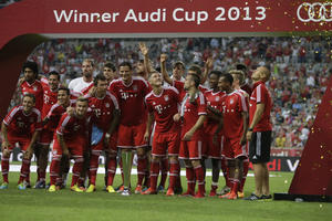 Winners ceremony Audi Cup 2013