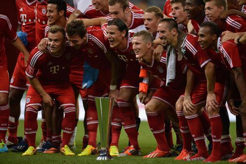 Winners ceremony Audi Cup 2013