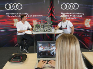 Stream & Chat: digital career orientation for apprenticeships at Audi
