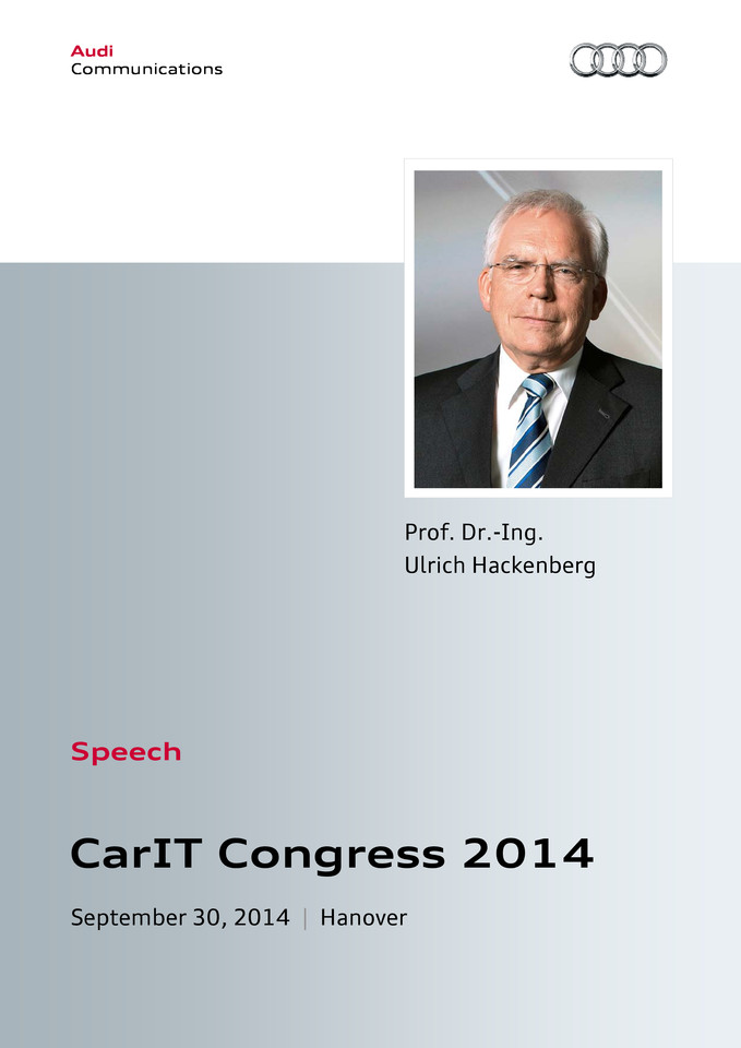 Speech CarIT Congress 2014