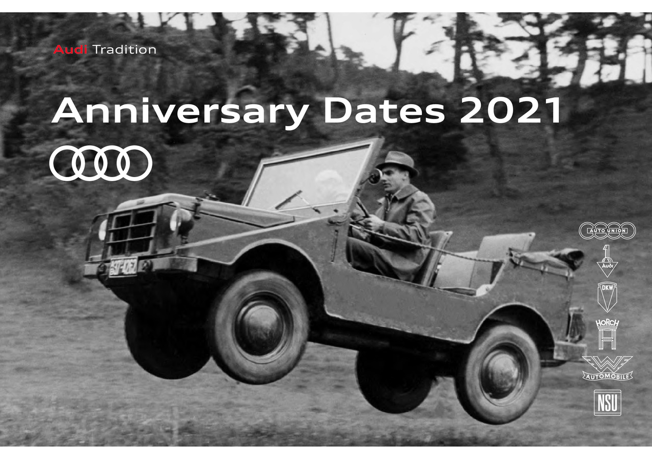 Audi Anniversary Dates 2021