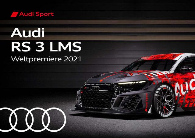 Audi RS 3 LMS auf einen Blick