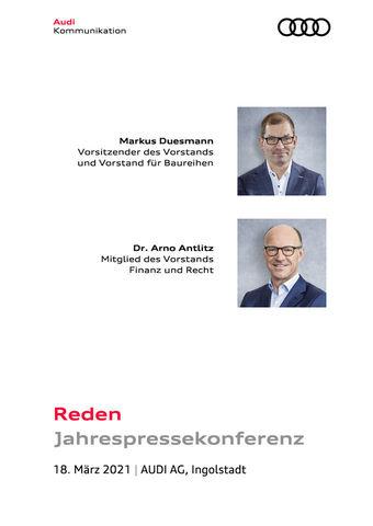 Reden anlässlich der Jahrespressekonferenz 2021