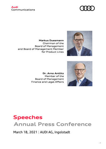 Speeches at the Annual Press Conference 2021