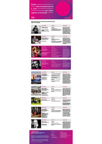 Das Programm der Audi Sommerkonzerte 2021 Open Air & digital