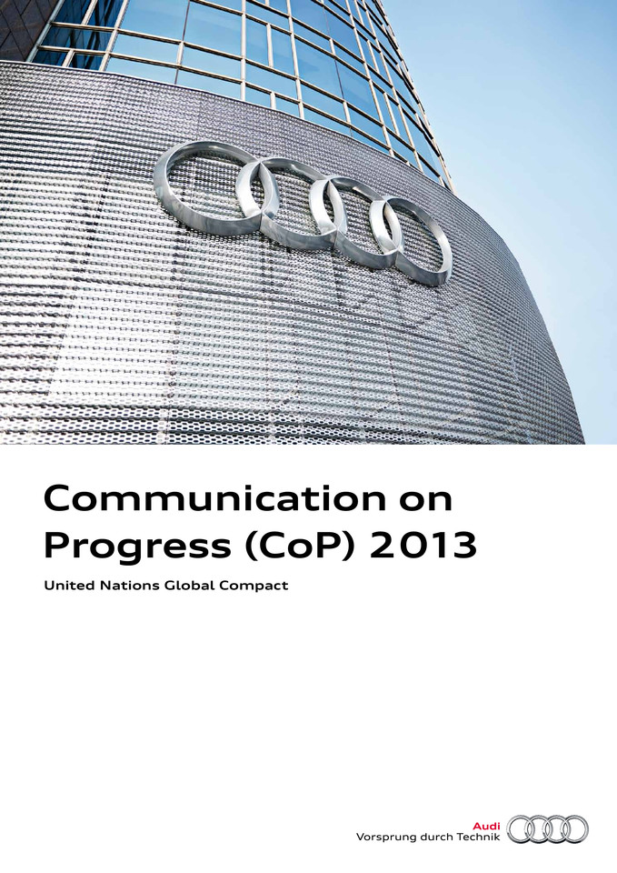 Audi updates ist Corporate Responsibility Report: