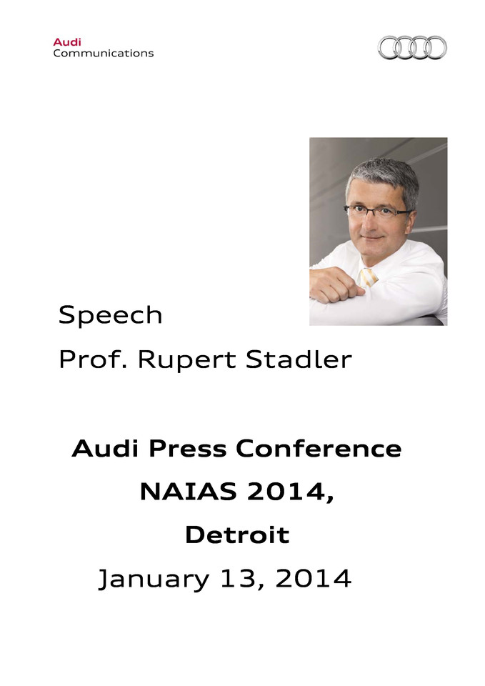 High res 20140113 pressversion naias detroit speech prof rupertstadler audi ag