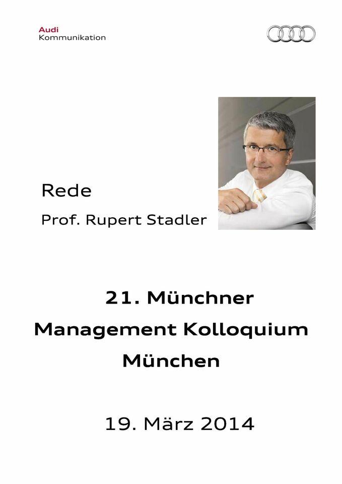 Rede zum 21. Münchner Management Kolloquium