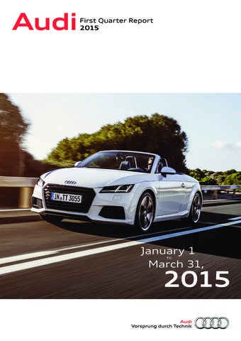 Audi - First Quarter Report 2015